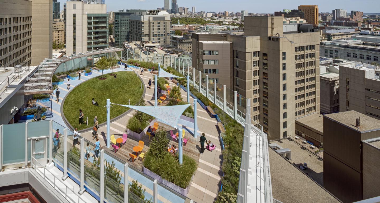 Boston Children S Hospital Rooftop Healing Garden Mikyoung Kim Design Landscape Architecture Urban Planning Site Art