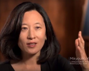 Mikyoung speaking in an interview